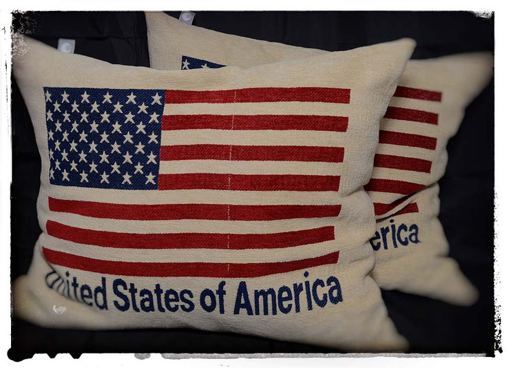 """Kissen """"America"""" - Maße 60x40cm, kuschelweich"""