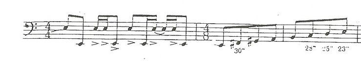 Rästelfrage November 2014 bei www.paukenschlaegel.com: Nennen Sie Namen von Komponist und Werk des dargestellten Notenausschnitts