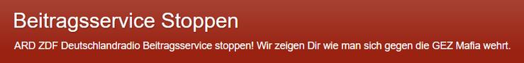 Beitragsservice stoppen ARD ZDF Deutschlandradio GEZ Mafia Logo