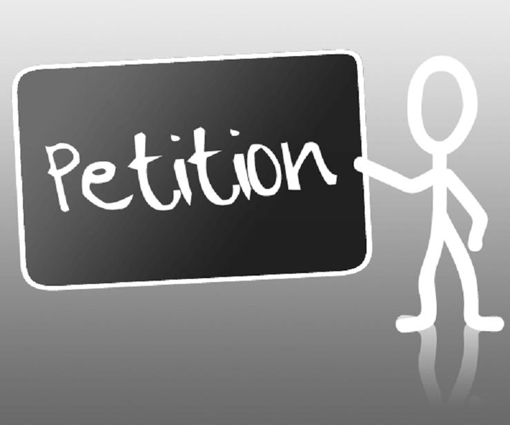 Petitionen Beschwerden Bittschriften Gesuche Proteste verfassen einreichen Logo