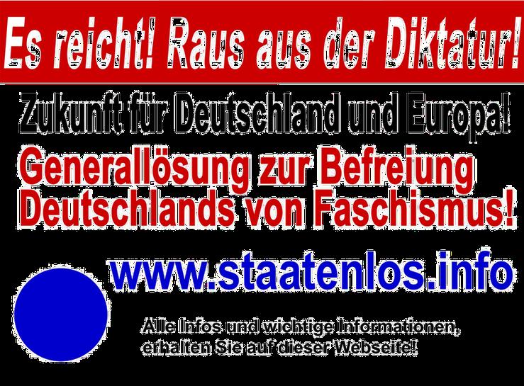Staatenlos Info Diktatur Befreiung Faschismus Bild