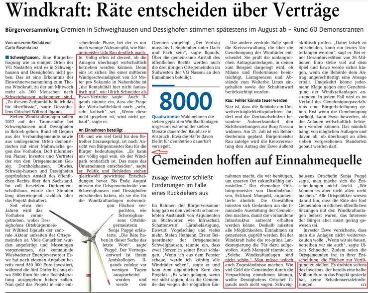 Rhein-Lahn-Zeitung v. 10.07.2015