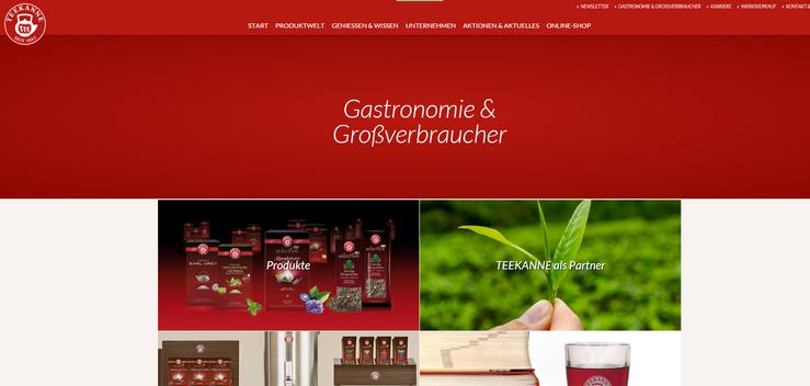 Homepage Teekanne