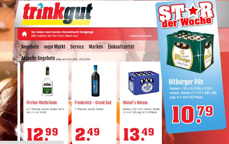 Homepage TrinkGut