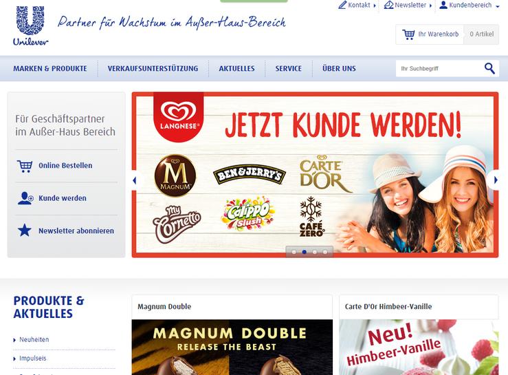 Homepage Langnese