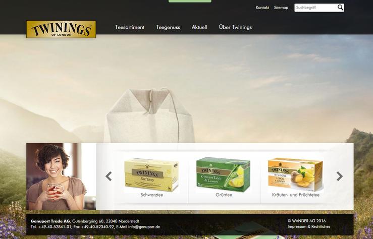 Homepage Twinings