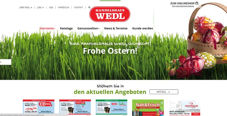 Webseite Handelshaus Wedel