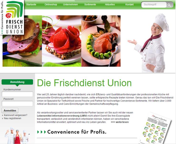 Homepage Frischdienst Union