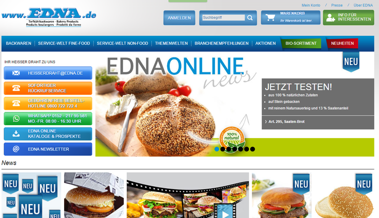 Homepage Edna