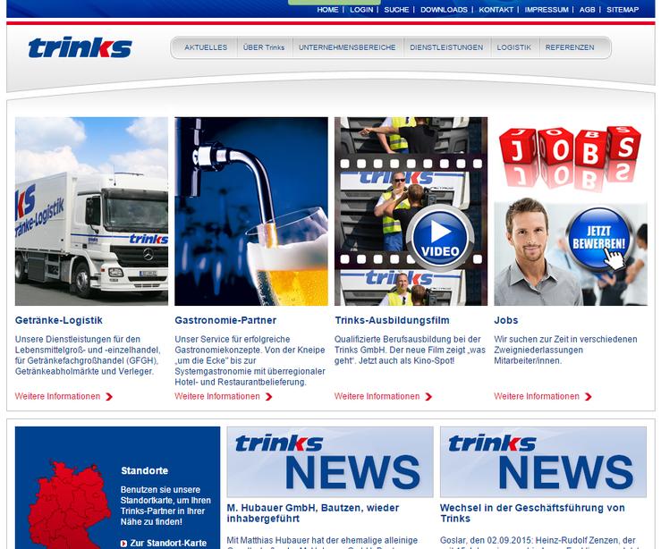 Homepage Trinks