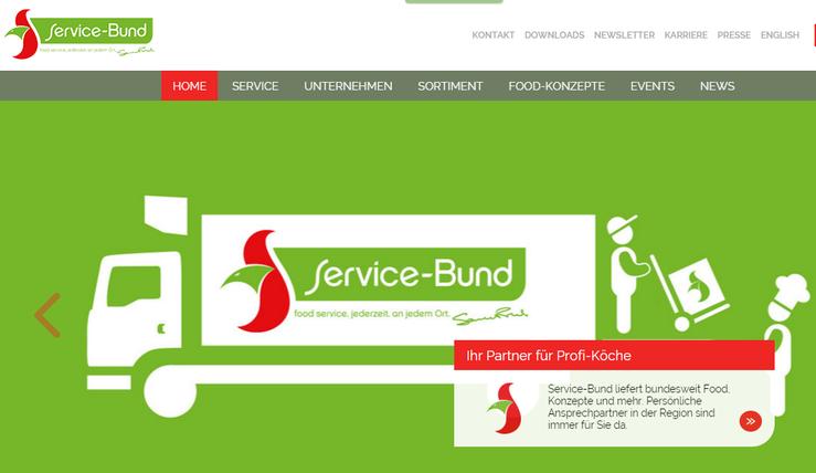 Homepage Service Bund