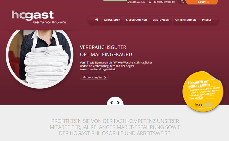 Homepage Hogast