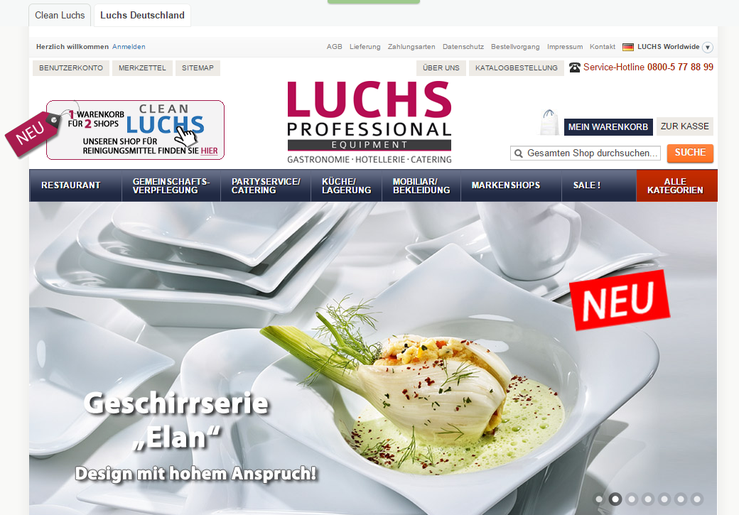 Homepage Luchs professional