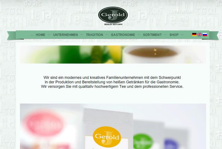 Homepage Gerold