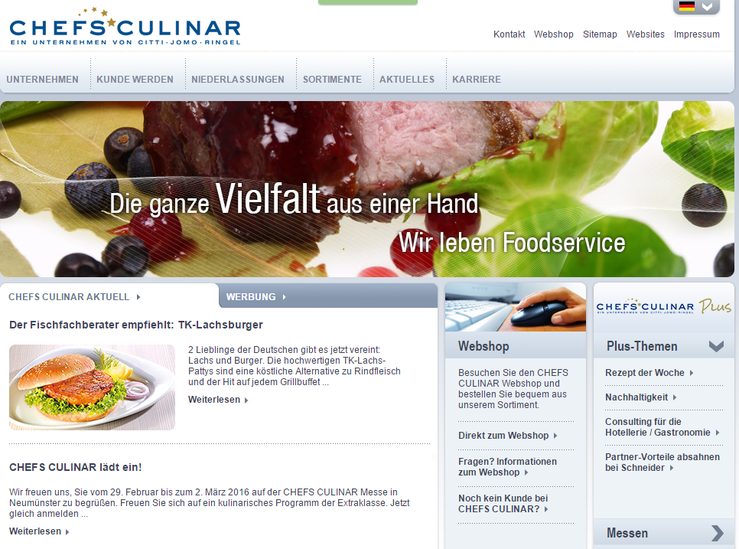 Homepage Chefs Culinar