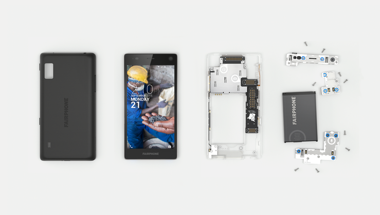 Disassembled Fairphone 2