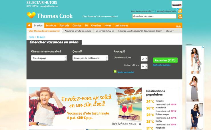 Cliquez sur l'image pour réserver en direct chez Thomas Cook, notre agence s'occupera personnellement de vous