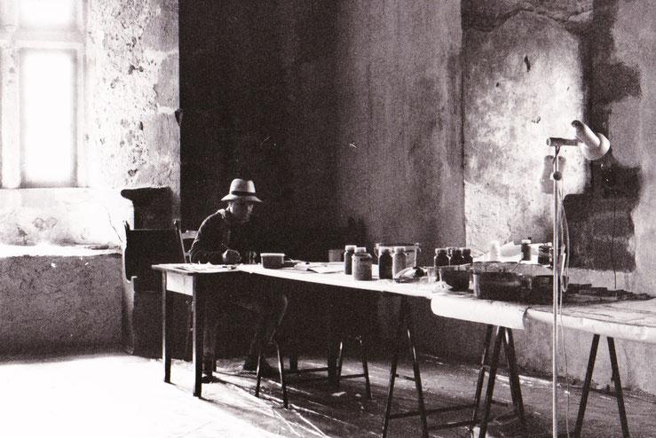 Erwin Auer beim Arbeiten