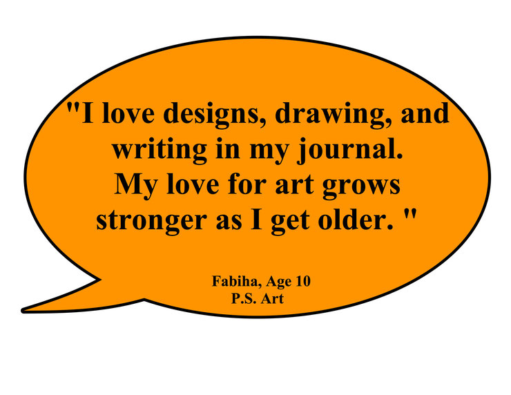"""My love for art grows stronger as I get older."""