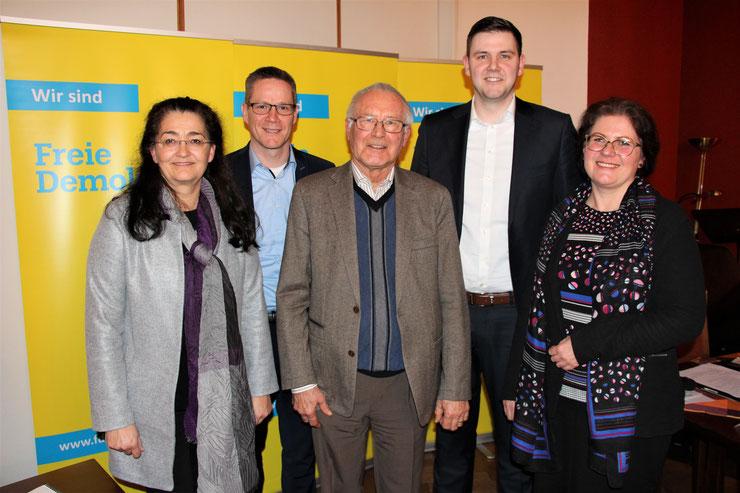 Der neue Kreisvorstand: (v.l.n.r.) Silke Wehmeier, Thorsten Baumgart, Ernst Sebbel, Patrick Büker, Susan Ehmke