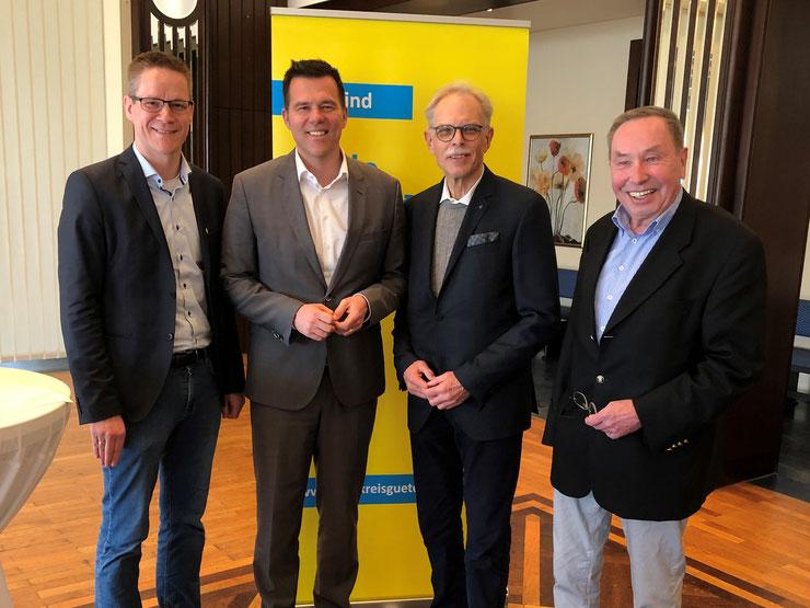 Diskutierten über Agrarpolitik: (v.l.n.r.) Thorsten Baumgart, Gero Hocker MdB, Wolfgang Schwake, Roland Stefan