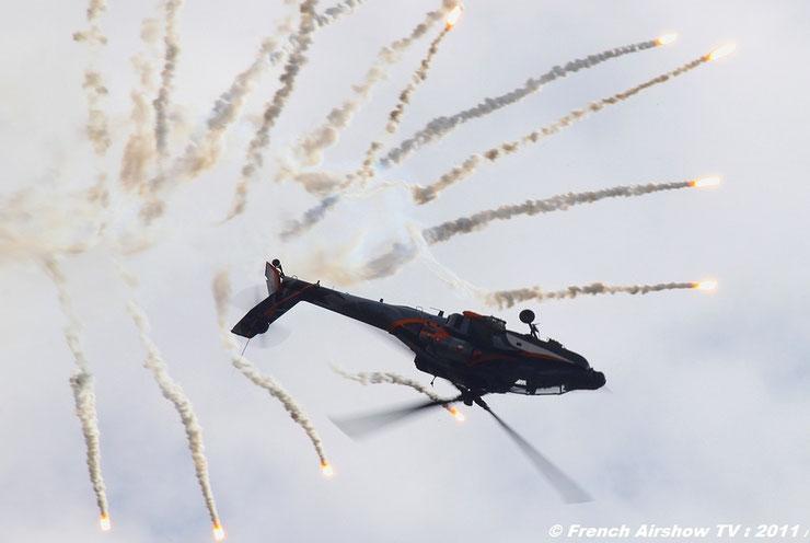RNLAF AH-64D APACHE Demo Team 2011 flare demo airshow  hollandais