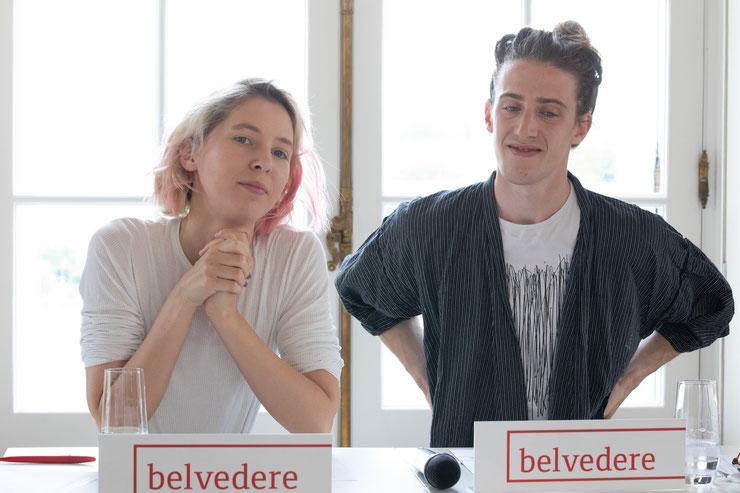Die Musiker Mira Lu Kovacs und Manu Mayr verpassten dem Belvedere und Belvedere 21 einen komplett neuen Sound-Auftritt. (c) eSeL / Lorenz Seidler
