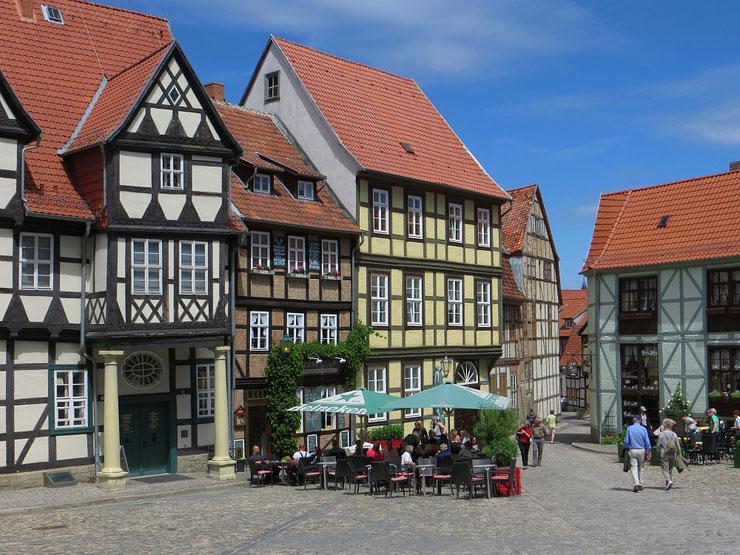 Quedlinburg in Sachsen-Anhalt, wunderschöne mittelalterliche Stadt.