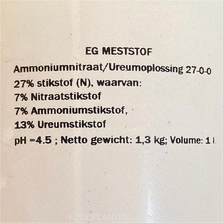 bionova, kunstmest, ureum, stikstof, ammoniumstikstof
