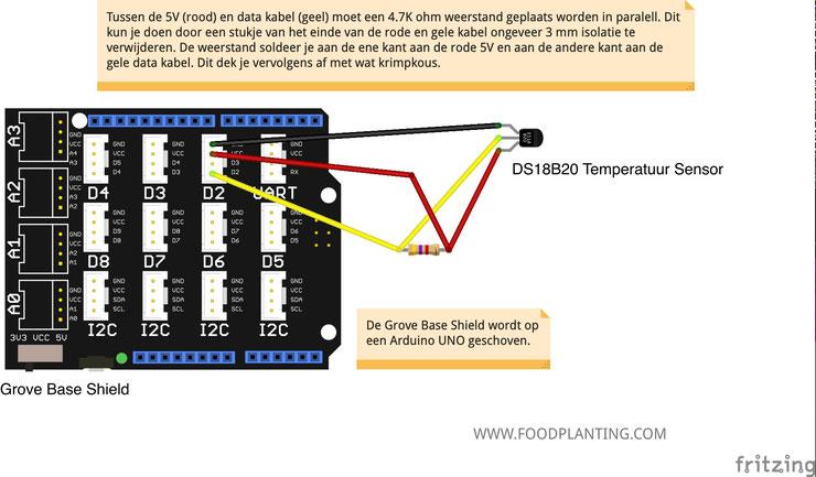 ds18b20, temperatuursensor