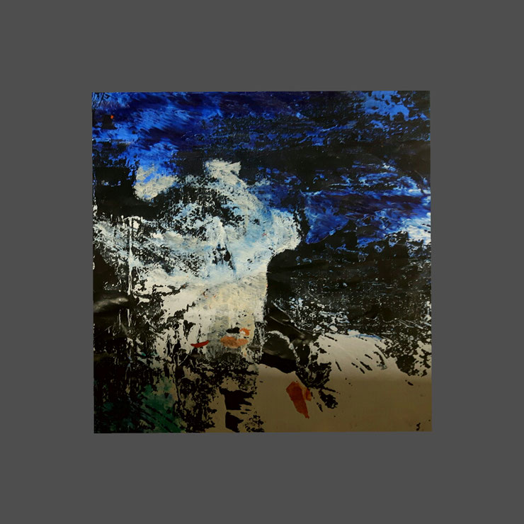 Acryl auf Mülltüte/ 20×20 cm