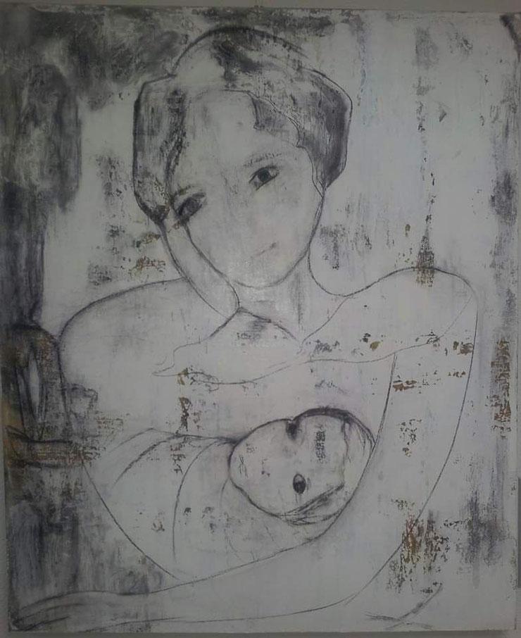 Acryl auf Leinwand/ 100x120 cm/ Werkzyklus Maikäfer flieg