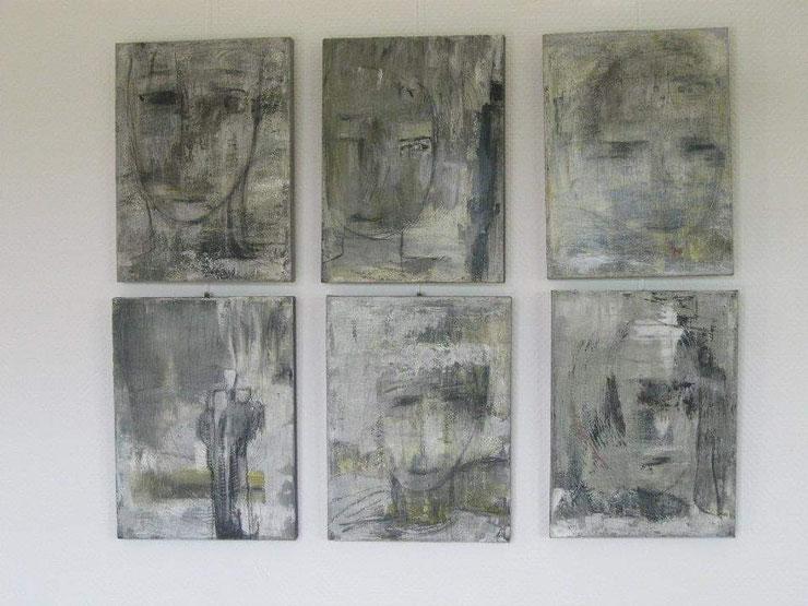 Acryl auf Leinwand/ je 30x40 cm