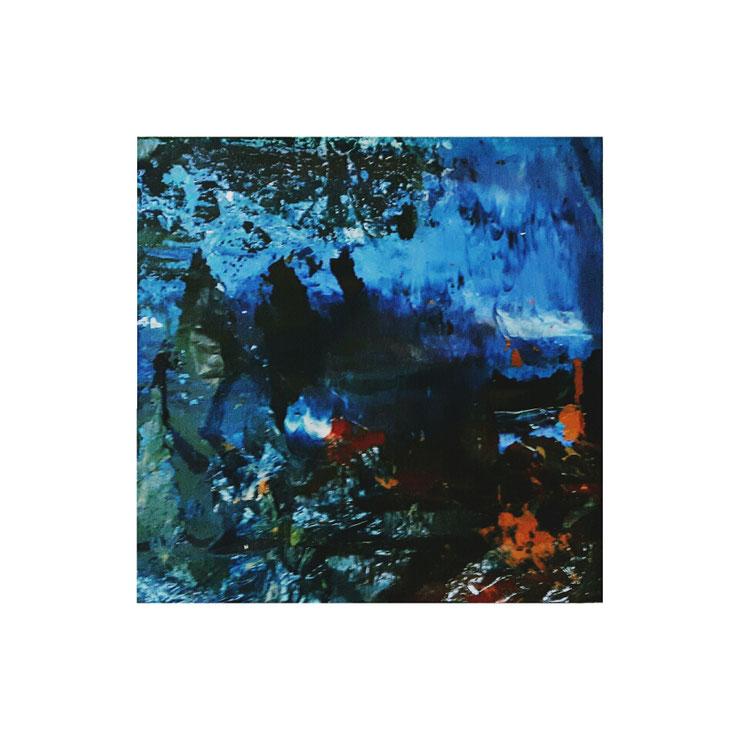 Acryl auf Mülltüte/ 15x15 cm