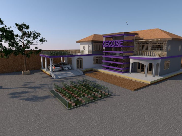 Artistic Impression of the new CECORE Peace House