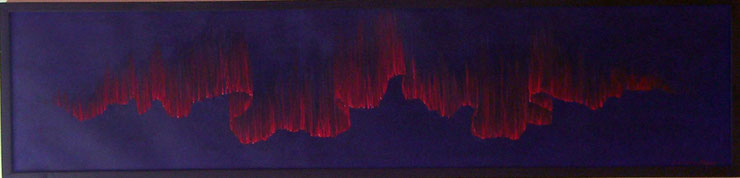Bild:Red,Aurora,Rot,Blau,Nacht,Himmel,Nordlicht,d-t-b.ch,d-t-b,David Brandenberger,Biber,dave the beaver,Ölbild,Malerei,Ölfarbe,