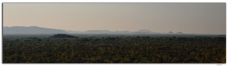 Mountains in the dust, seen from Kelly's Knob Lookout
