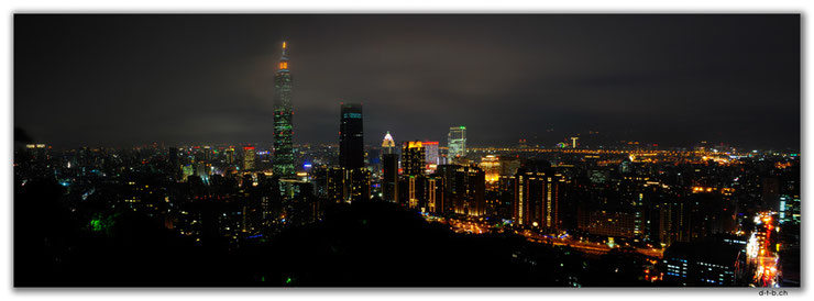 View from Elephant Mountain to Taipei 101