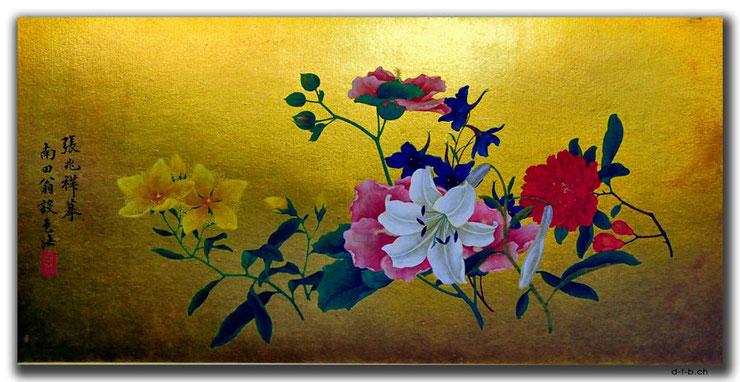 China,Museum,Tianjin,Blumenbild,