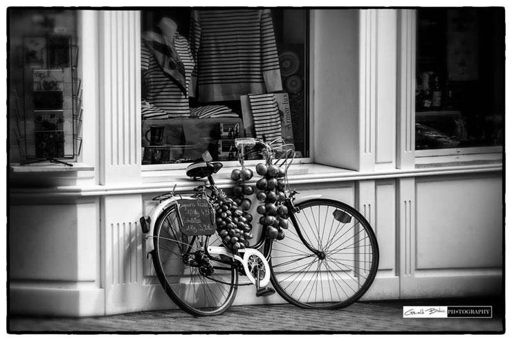 Oignons de roscoff, vente a vélo