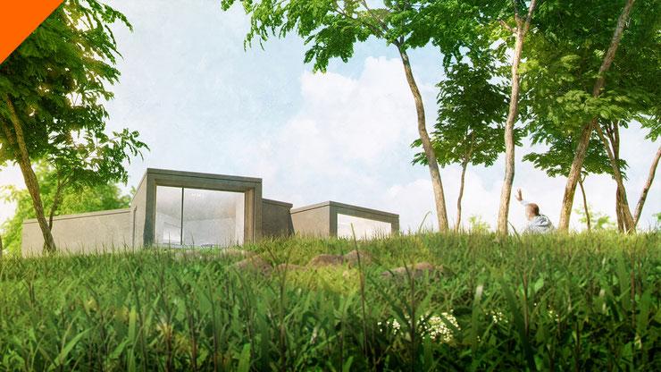 Museo de maquetas de arquitectura. Infografías y animación 3D. Tour virtual 360