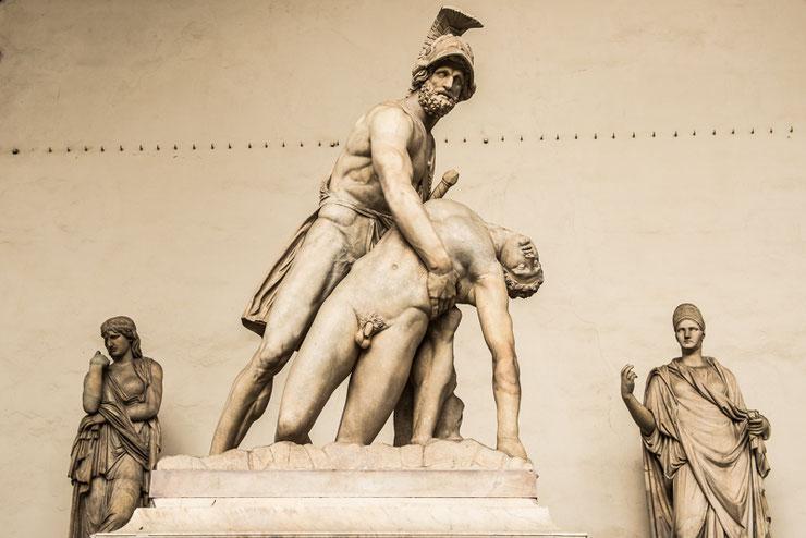 Veel kunst in Florence.