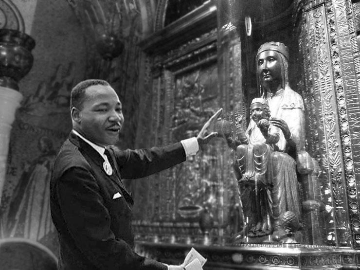 El 1965, abans d'iniciar la multitudinària marxa de Selma en favor dels drets civils dels negres, MartinLuther King, religiós com és, s´encomana a la Mare de Déu de la seva raça. La marxa acaba amb un bany de sang.