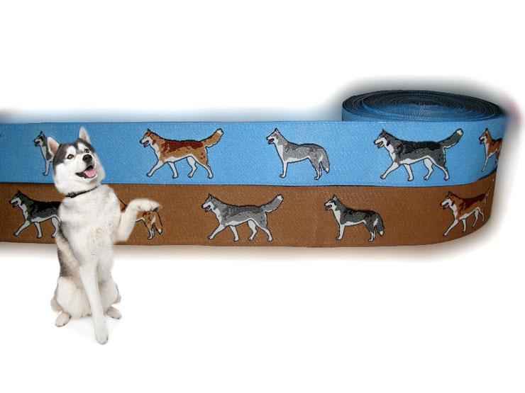 Husky Webband Hund Borte Hundehalsband