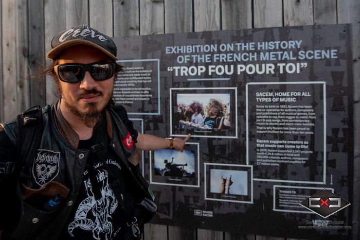 Exposition SACEM lors du Hellfest 2019