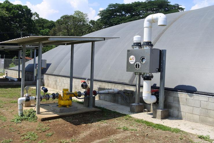 Válvula de control de presiones para biodigestor