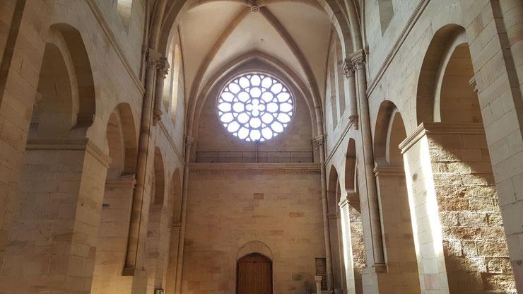 Innenansicht des Rosenfensters in der Abteikirche Otterberg, Bild: H.Forsch