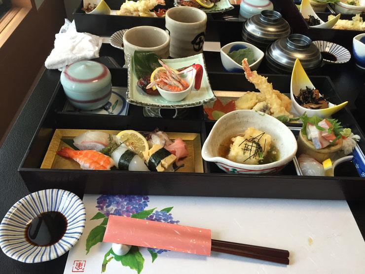 寿司 島津 季節の松花堂弁当1,650円