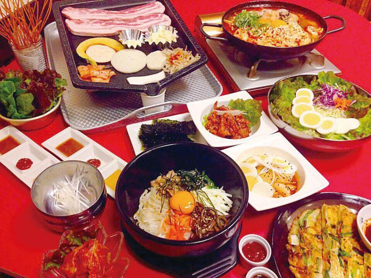 サランバン おまかせ料理(一例)