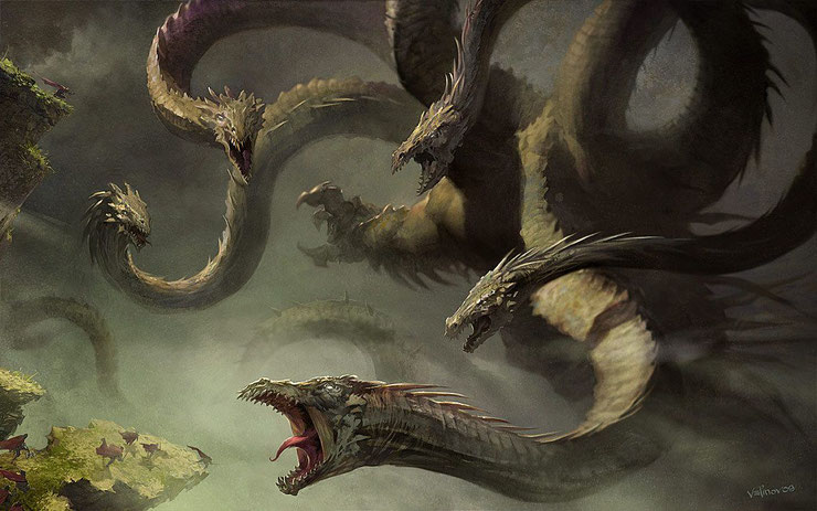 liste des animaux fantastiques mythologie grecque hydre de lerne